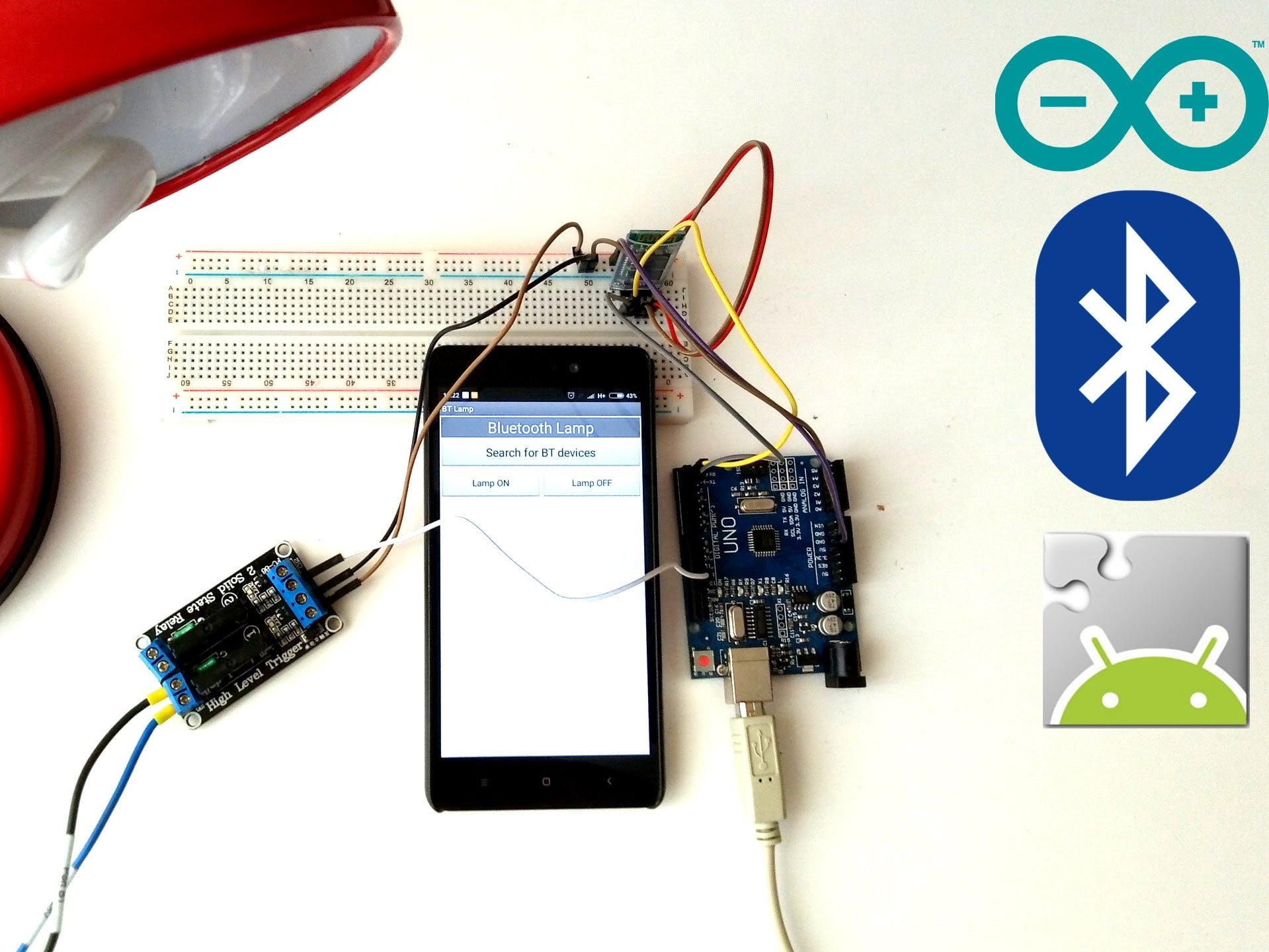 Smartphone Controlled Lamp | Arduino + MIT App Inventor