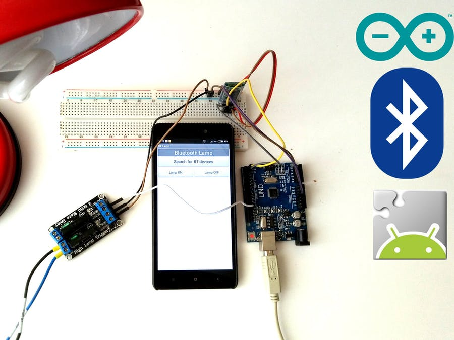 Smartphone Controlled Lamp | Arduino + MIT App Inventor - Hackster io