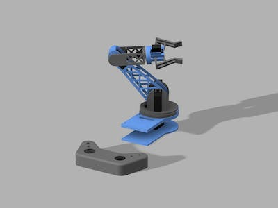 3D pirnted Robotic arm with Bluetooth control (HC-05)