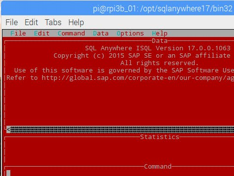 Setup SQL Anywhere on Raspberry Pi