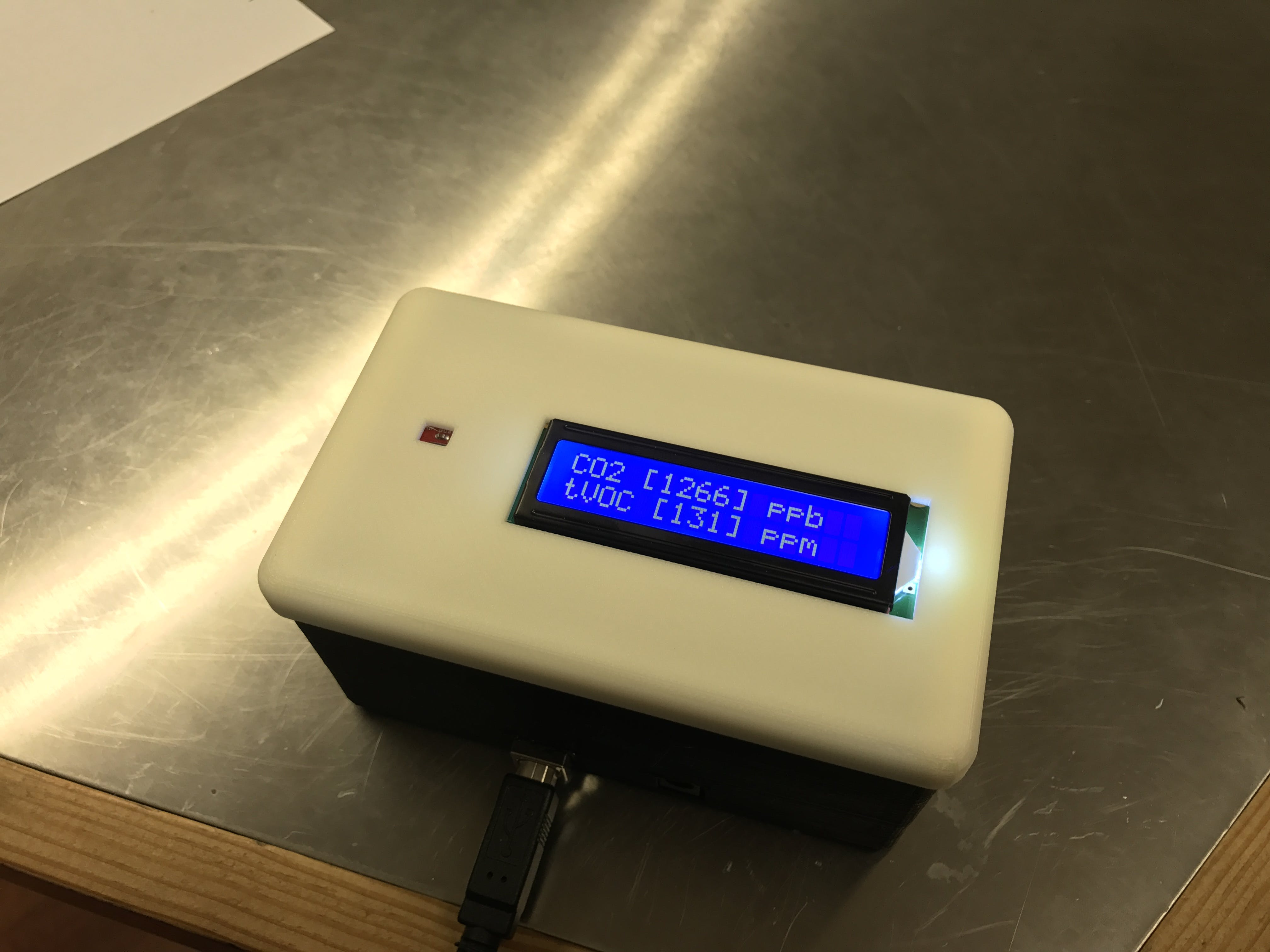 Air Quality Monitor Live Display