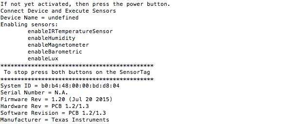 TI SensorTag to SAP Cloud Platform IoT Services