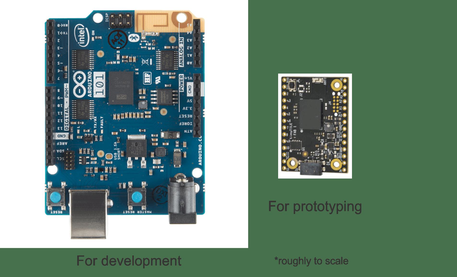 Arduino101 Vs tinyTILE