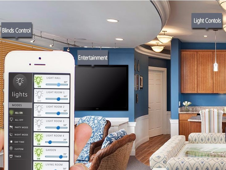 Control And Monitor The Home Environment Using Android App With Advanced  Features Such As Voice Command, Scheduling, Home Preparing Itself.