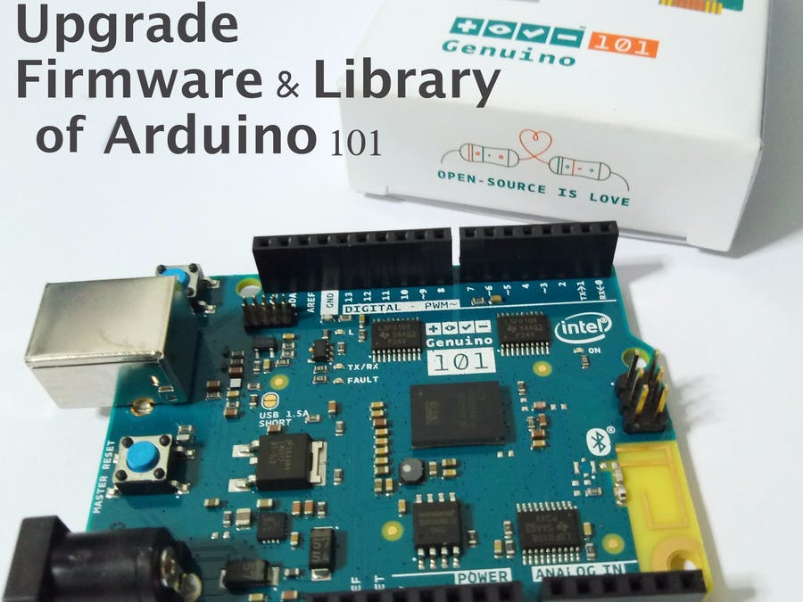 Upgrade Firmware & Library of Arduino 101