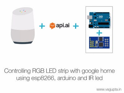 Controlling RGB LED Strip with Google Home