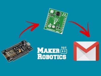 Send e-mail - NodeMCU with Mikroelektronika Clicks