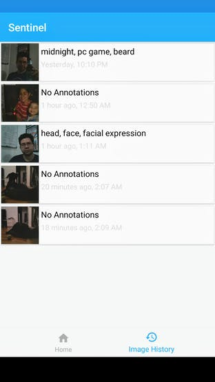 Companion Android App - Image History