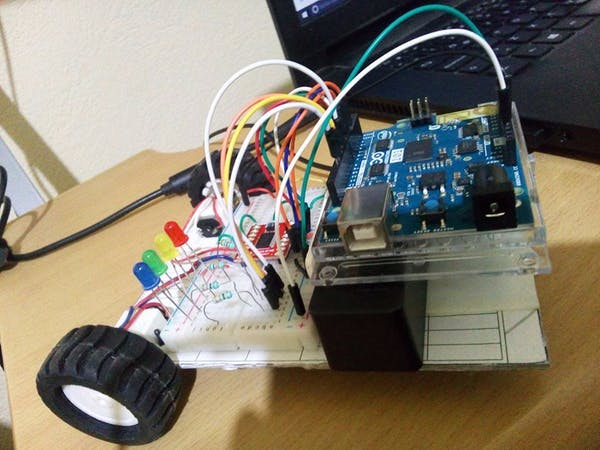 My first arduino car controlled by ble