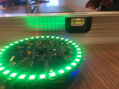 MATRIX Level, Using the Gyroscope Sensor on the Creator