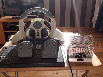 Controlling Robot Over Bluetooth Using Xbox Steering Wheel