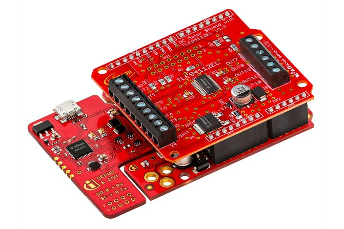 DIY Infineon DC Motor Shield with TLE94112EL for Arduino