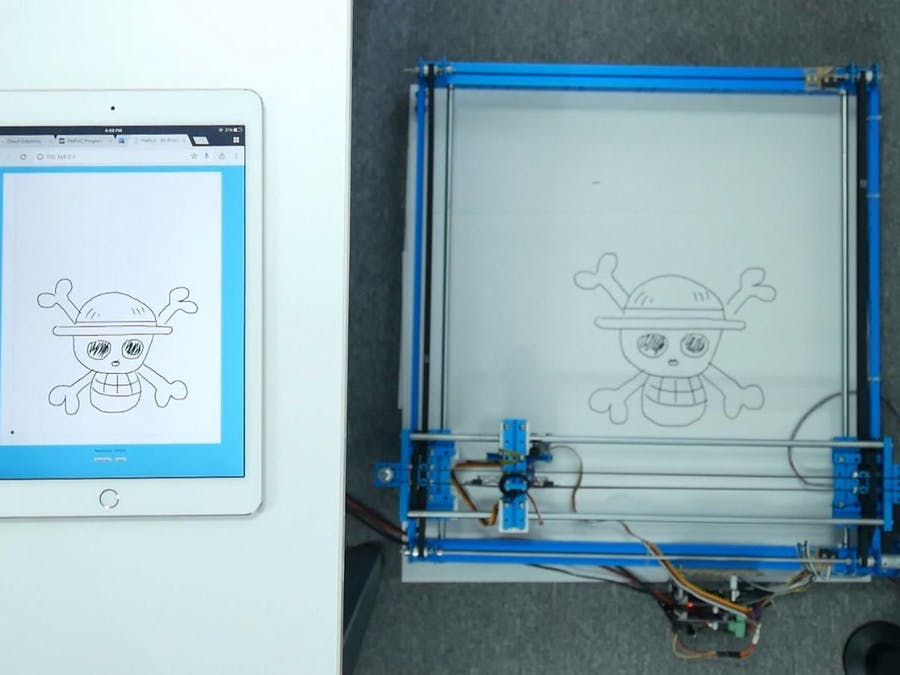 Drawing via Web Using Micro-Step Motor Controller and PHPoC