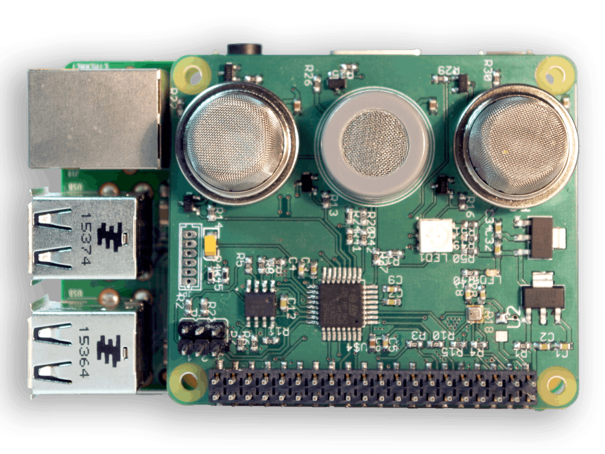 Sensly HAT For Raspberry Pi Air Quality & Gas Detector