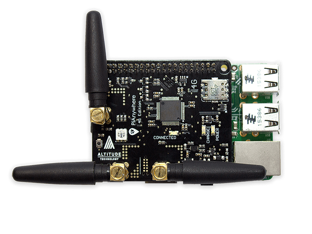 PiAnywhere 4G & LTE HAT for the Raspberry Pi