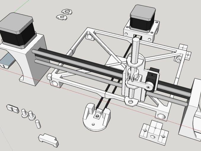 Mini CNC 3D Printed PCB Creator
