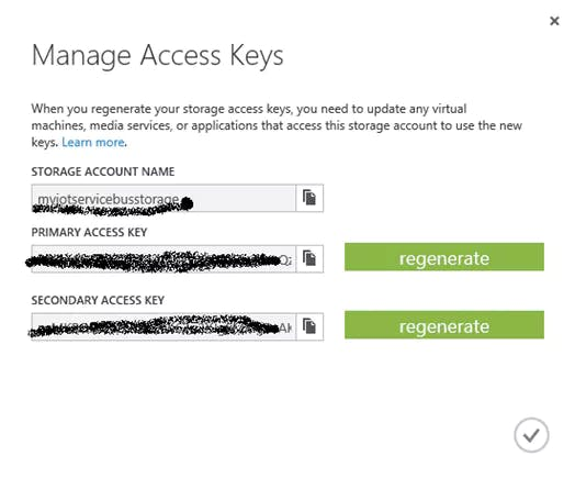 Figure 7. Storage Account Name and Access Key