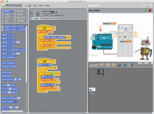 Physical computing scratch for arduino project hub