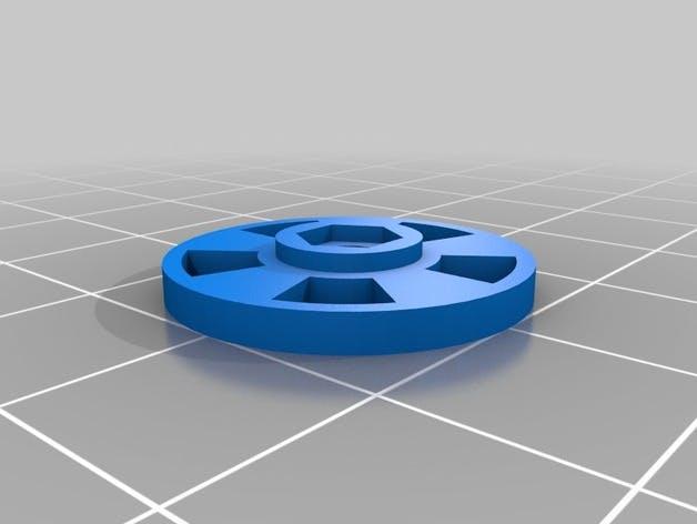 Encoder disc to print. Made by RafaelEstevam on thingiverse.com.