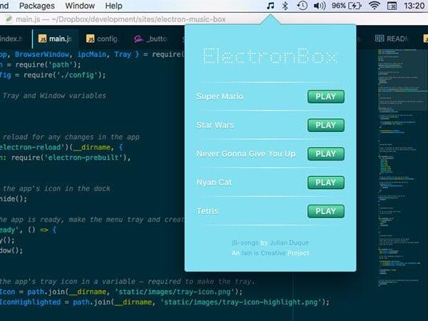 Electron Music Box Buzzer App