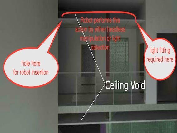 Ceiling void robot