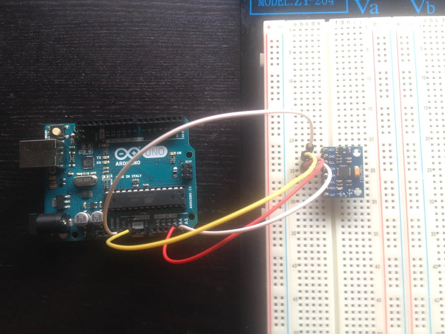 How to use the accelerometer- gyroscope GY-521 - Arduino