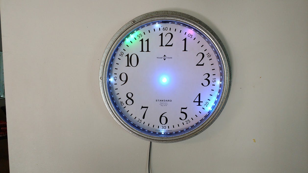 Cheap NeoPixel Strip Clock