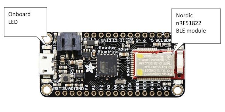 BLE LED Controller | Feather 32u4 Bluefruit LE + MIT App Inv