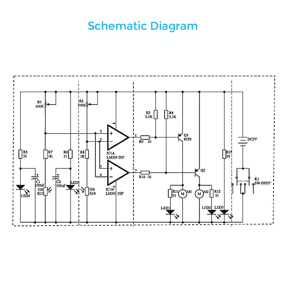 Diy Smart Intelligent Robot Tracking Car D2 5 Block Diagram Of Metal Detector Robotic Vehicle