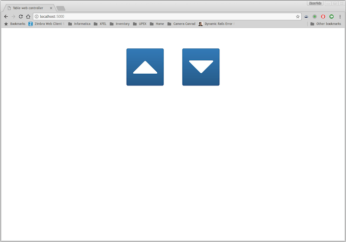 Basic and responsive web interface (powered by bootstrap)