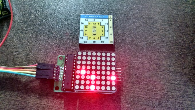 LED Matrix and Paper Template
