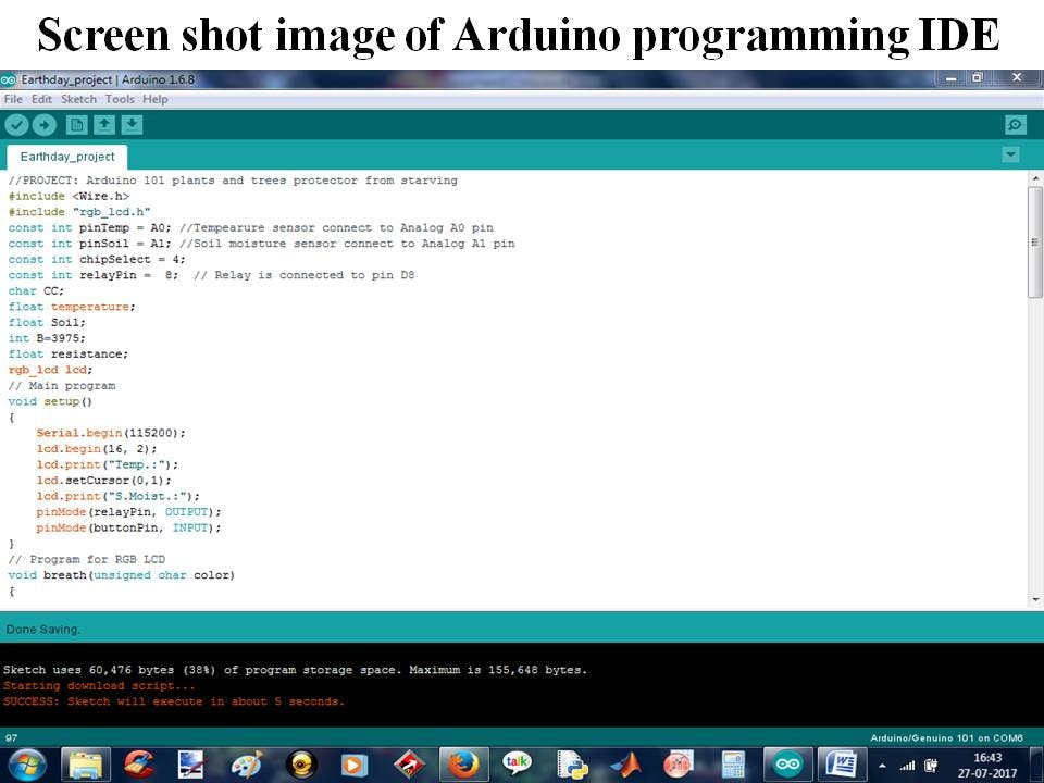 Figure 4: Screen shot image of program.