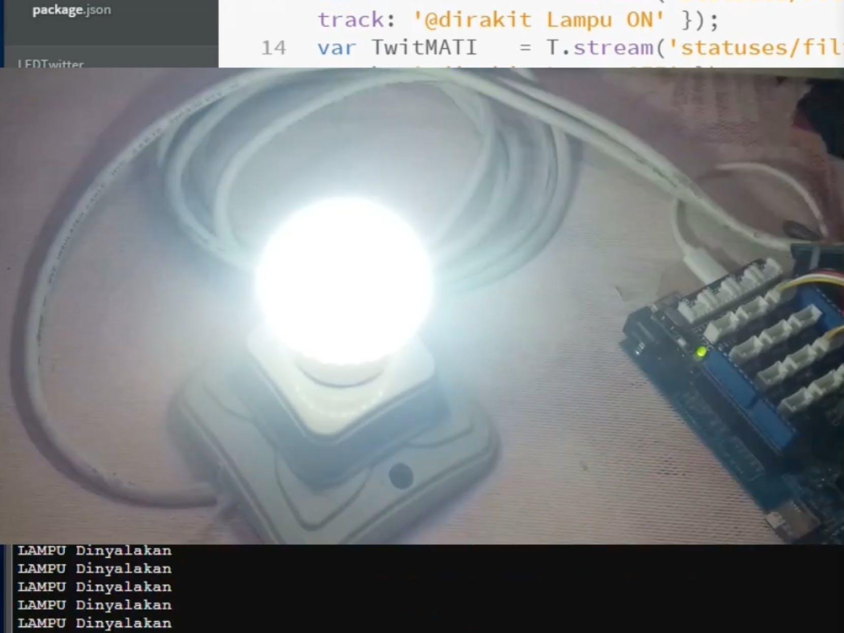 Kendali Lampu dengan Twitter