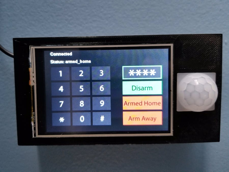 DIY Alarm Control Panel for Home Assistant - Hackster io