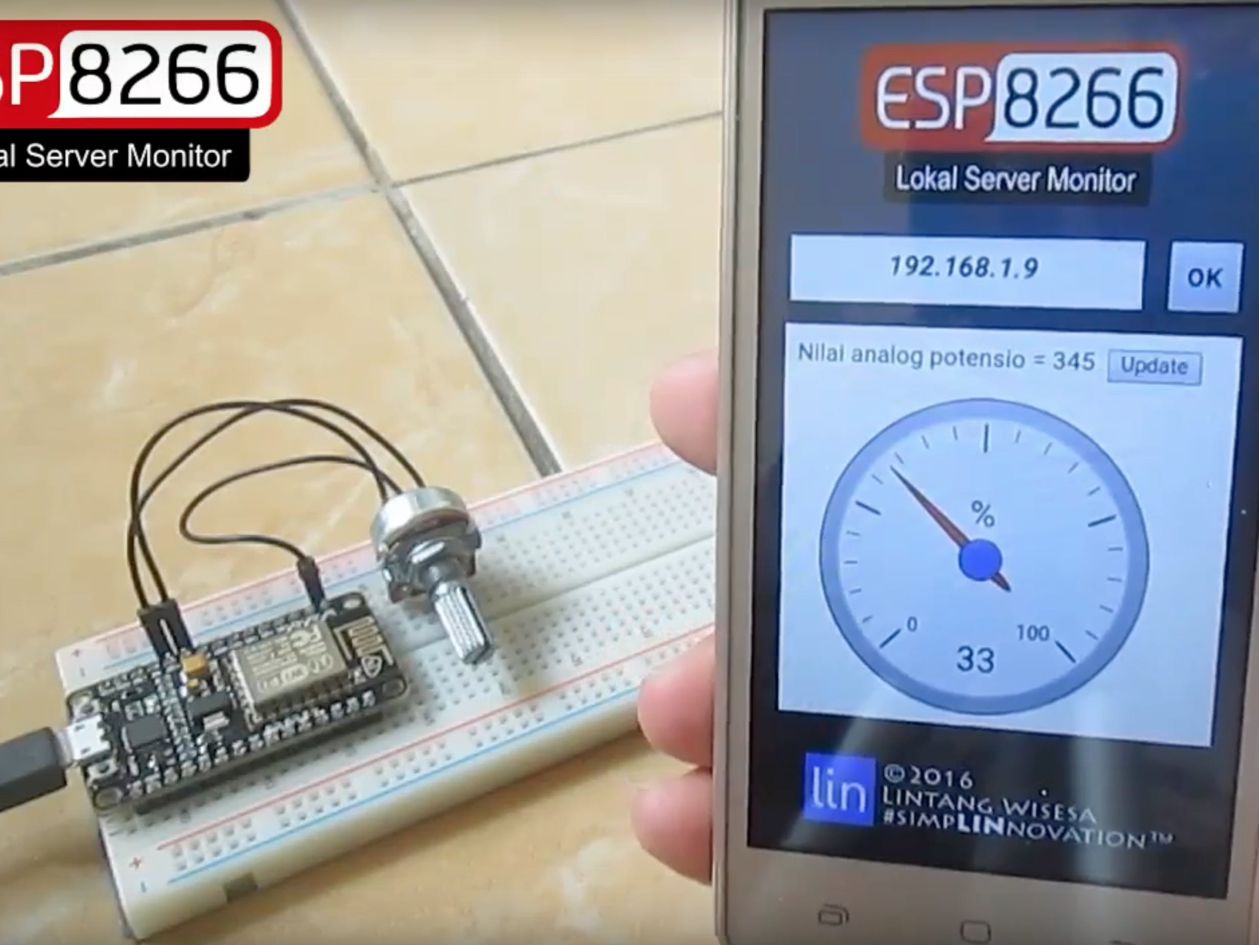 ESP8266 Web Server Data Monitor NodeMCU & its Android App