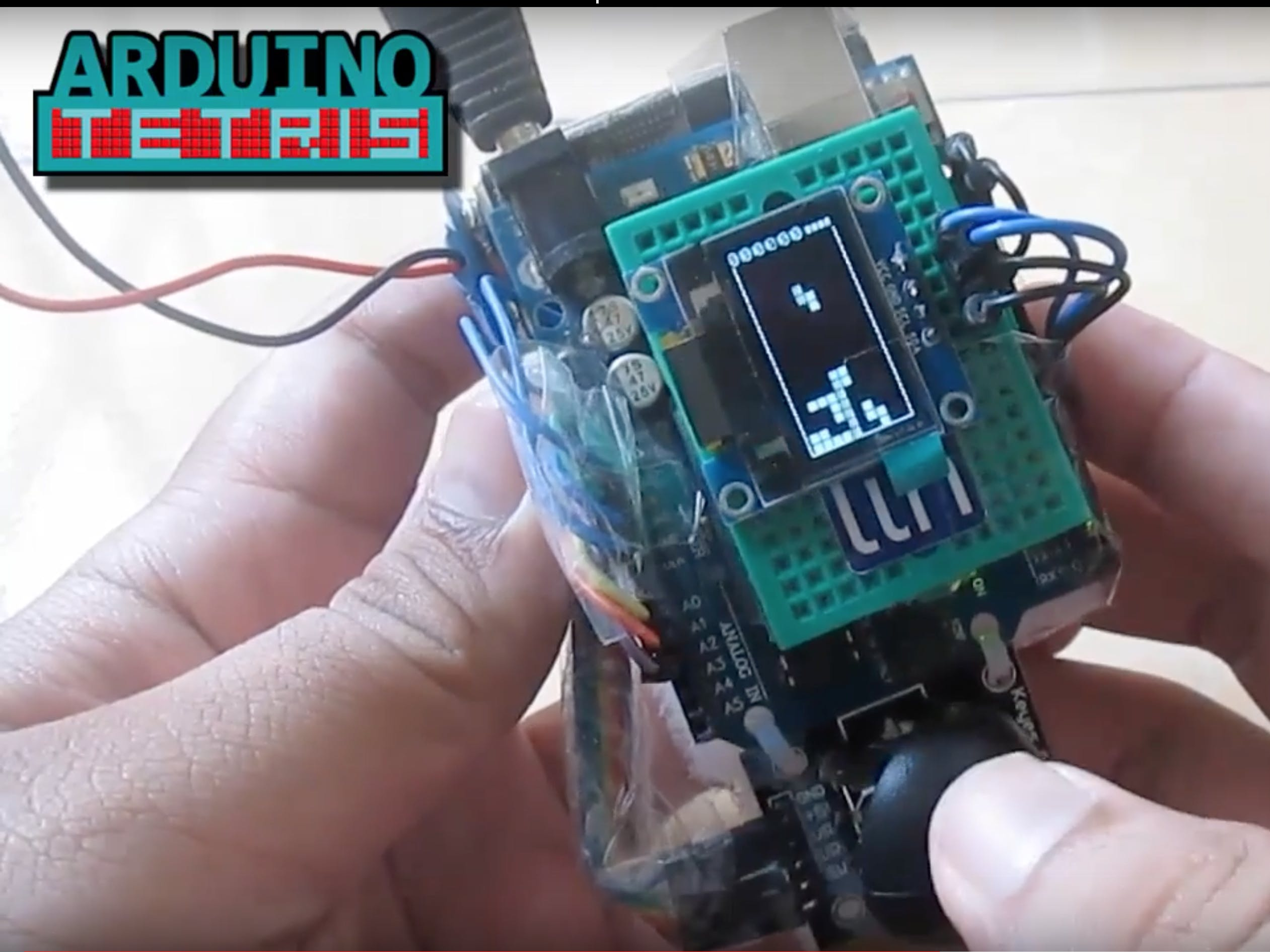 Arduino Mini Tetris Thumbstick Controlled