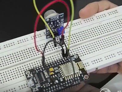 Sensor gas bocor menggunakan NodeMCU ESP8266 & AgnosThings