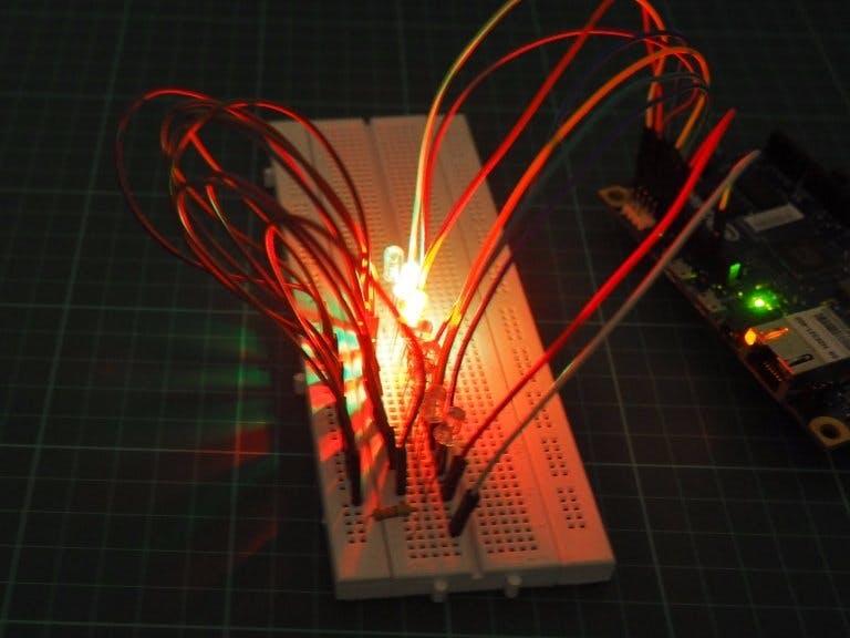 LED berjalan menggunakan Intel Galileo