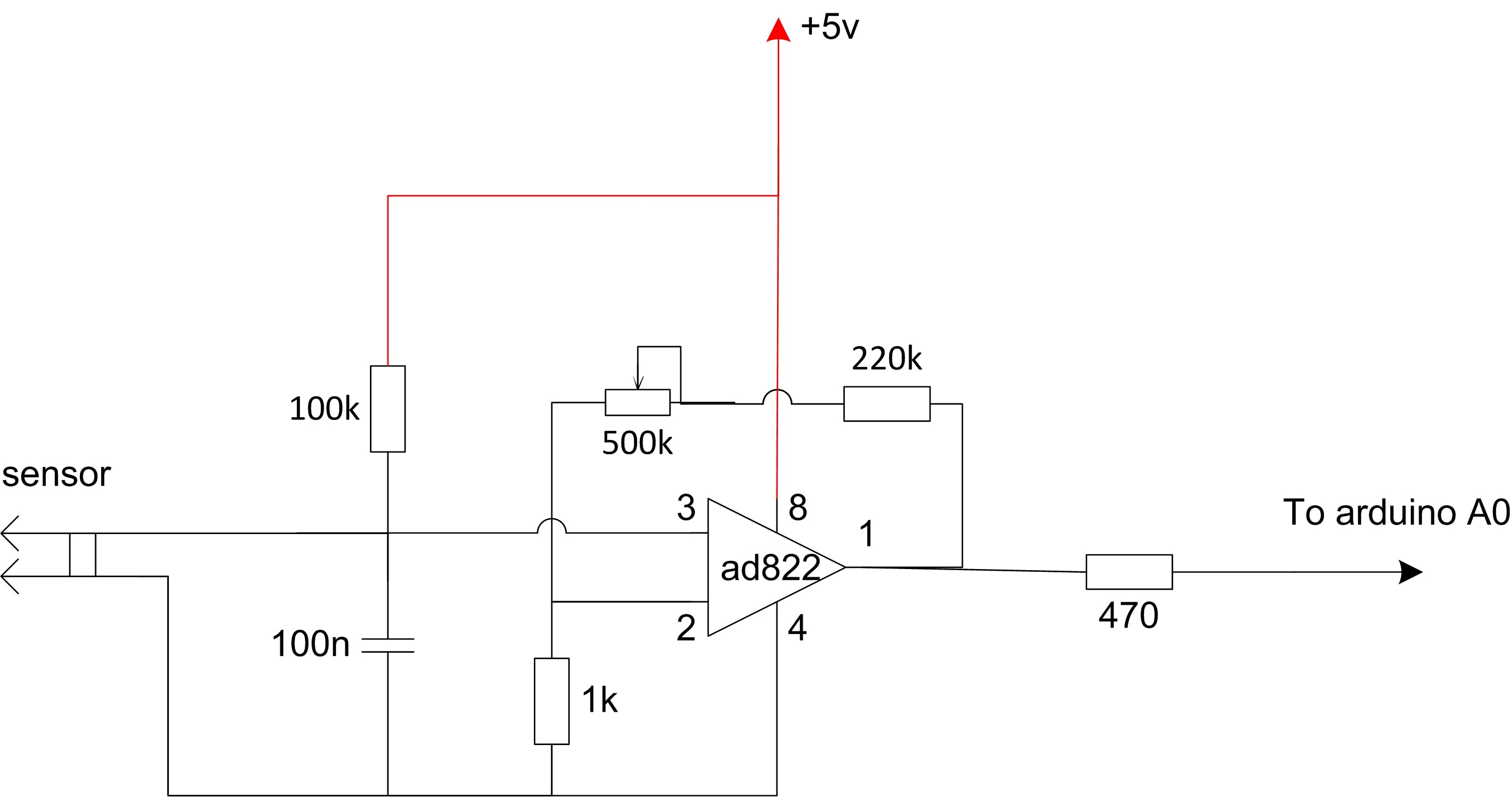 The sensor circuit in case of thermistor sensor