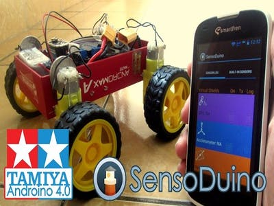 Tamiya Androino 4.0 Arduino 4WD Gesture & Bluetooth Control