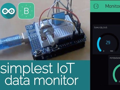 Simplest IoT Data Monitoring with Arduino & Blynk