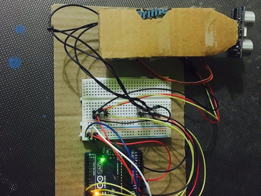 Radar Using Ultrasonic with Processing