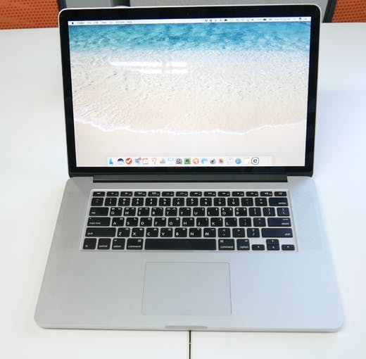 Laptop overlays force sensor.