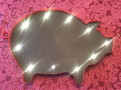 Blinky Bacon Blackboard - LED Art Light