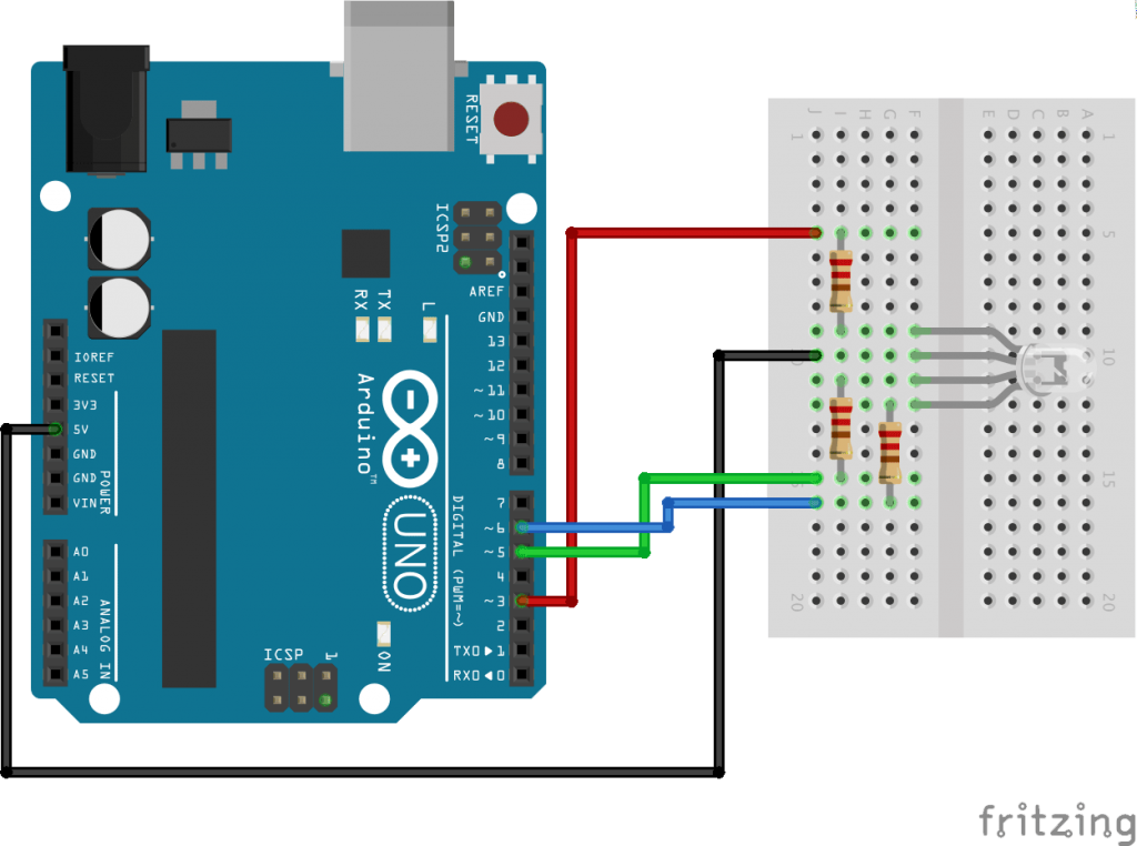 using common cathode and common anode rgb led with arduino hackster io rh hackster io