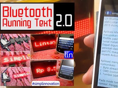 Bluetooth Running Text 2.0