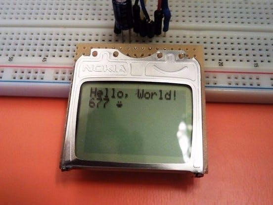 Get Nostalgic and Use Nokia 84x48 LCD with Arduino