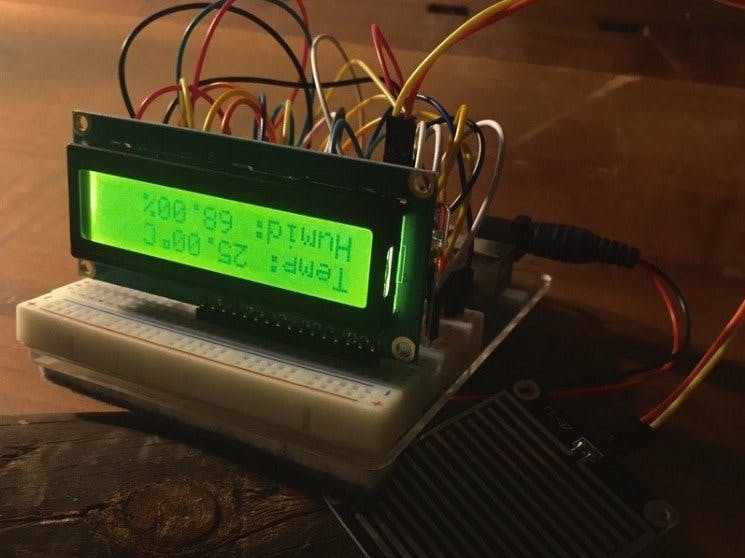 Arduino Temperature - Humidity - Rain Sensor