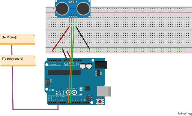 automatic water level controller arduino project hubUltrasonic Sensor Remote Control Circuit Application Example Control #18