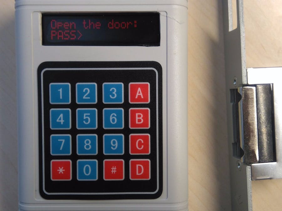 Security System Using Password by Arduino & Python